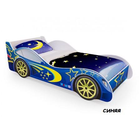 """Кровать-машина Пятая точка """"Синяя"""""""