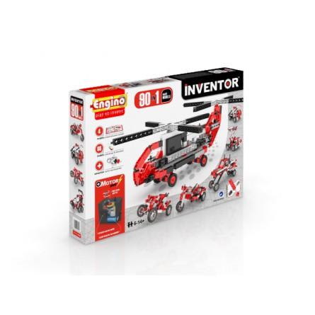 Интерактивный конструктор engino 90 в 1 с Мотором серия Инвентор