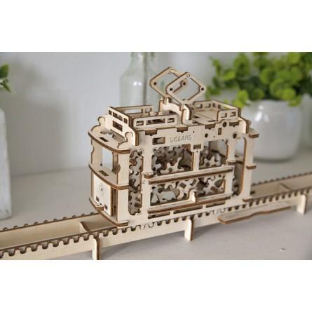 Деревянный конструктор UGEARS - трамвай