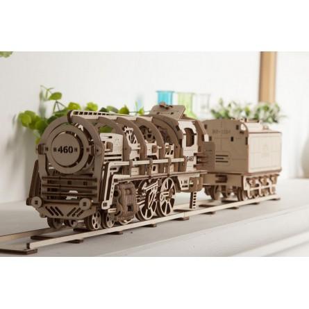 Деревянный конструктор UGEARS - локомотив с тендером