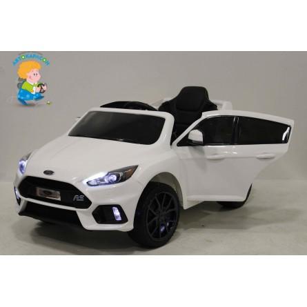 Детский электромобиль Ford Focus RS белый