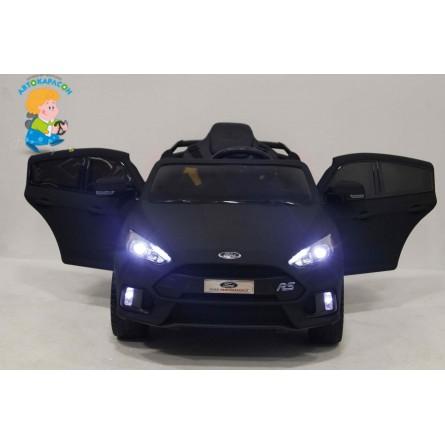 Детский электромобиль Ford Focus RS чёрный матовый