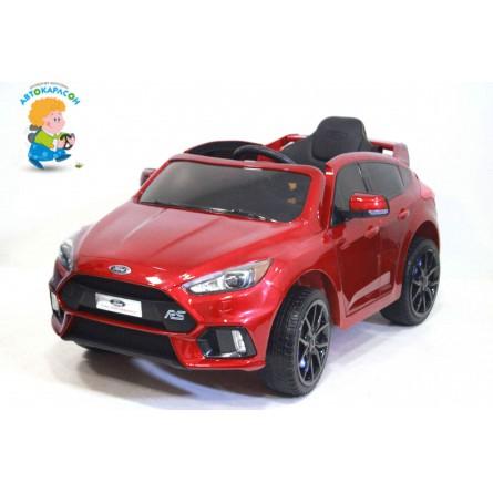Детский электромобиль Ford Focus RS красный глянец
