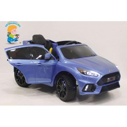 Детский электромобиль Ford Focus RS синий глянец