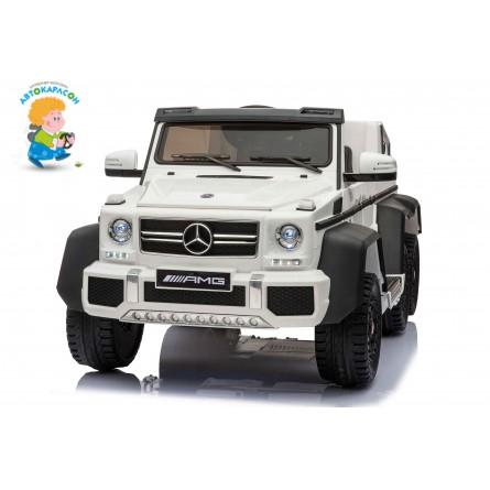 Детский электромобиль Mercedes-Benz G63 AMG 4WD с родительским сиденьем белый