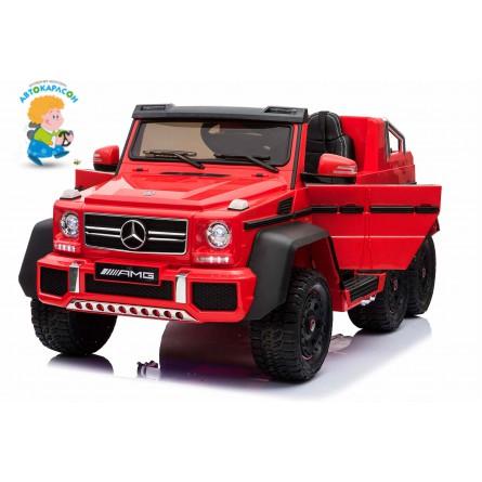 Детский электромобиль Mercedes-Benz G63 AMG 4WD с родительским сиденьем красный