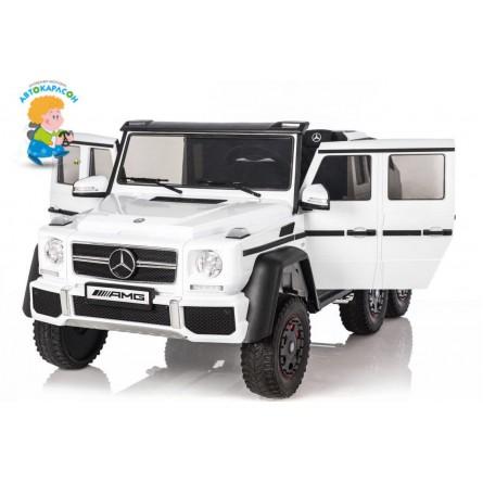 Детский электромобиль Mercedes-Benz G63 AMG 4WD белый