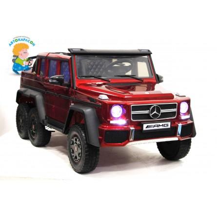 Детский электромобиль Mercedes-Benz G63 AMG 4WD красный глянец