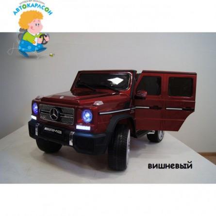 Детский электромобиль Mercedes G65 красный глянец