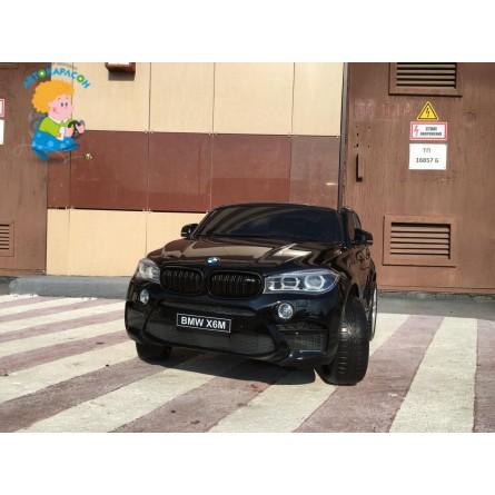 Детский электромобиль BMW X6M чёрный