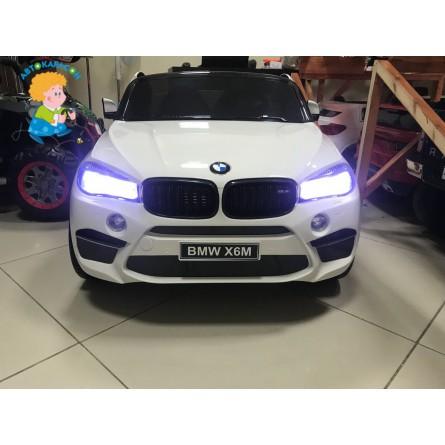 Детский электромобиль BMW X6M белый