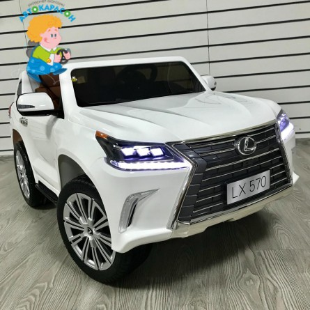 Детский электромобиль Lexus LX570 белый
