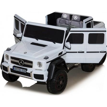 Детский электромобиль Mercedes Benz G63 6х6 белый