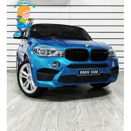 Детский электромобиль BMW X6M синий