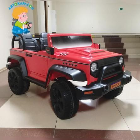 Детский электромобиль Jeep CH 9938 красный