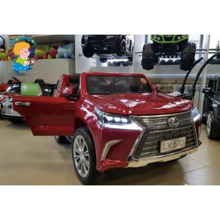 Детский электромобиль Lexus LX570 красный глянец