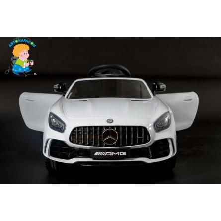 Детский электромобиль Mercedes-Benz GT-R белый