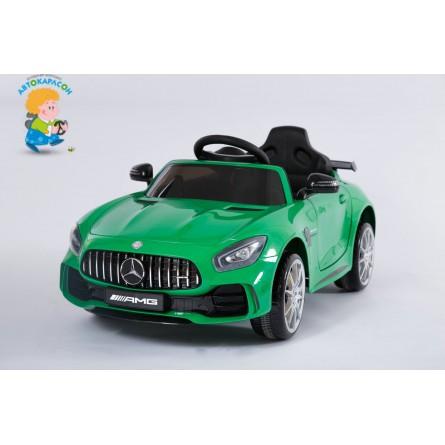 Детский электромобиль Mercedes-Benz GT-R зелёный