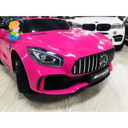 Детский электромобиль Mercedes-Benz GTR 4Х4 розовый