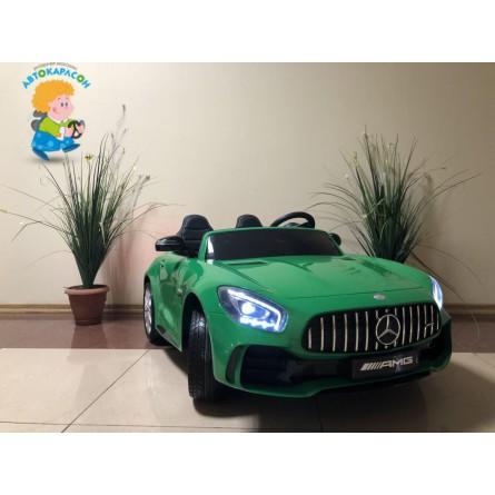 Детский электромобиль Mercedes-Benz GTR 4Х4 зелёный