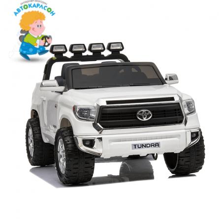 Детский электромобиль Toyota Tundra белая