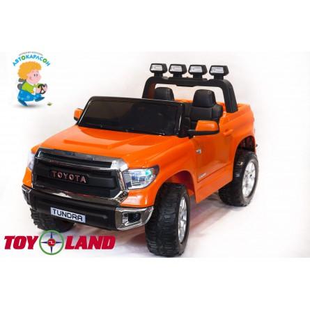 Детский электромобиль Toyota Tundra mini оранжевая